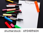 stationery for drawing   top... | Shutterstock . vector #693489604