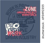 urban project work force... | Shutterstock .eps vector #693492355