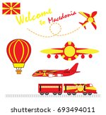 macedonia flag  macedonia ... | Shutterstock .eps vector #693494011