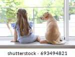 Cute Child With Labrador...