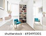 dreamy feminine wardrobe with... | Shutterstock . vector #693495301