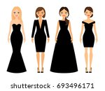 beautiful women in different... | Shutterstock . vector #693496171