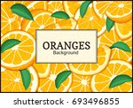 rectangular label on citrus... | Shutterstock . vector #693496855