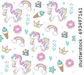 Unicorn With Cake  Ice Cream ...