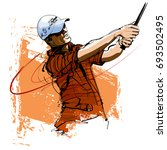 golf player with cap and...   Shutterstock .eps vector #693502495