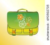 school briefcase  color  bright ... | Shutterstock .eps vector #693502735