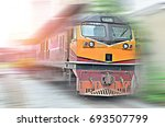 the old train head used to drag ... | Shutterstock . vector #693507799
