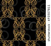 endless abstract pattern.... | Shutterstock .eps vector #693507811
