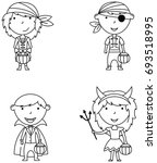 happy boys and girls in...   Shutterstock .eps vector #693518995