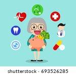 old people savings their money... | Shutterstock .eps vector #693526285
