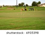 a golf course resort in the... | Shutterstock . vector #6935398