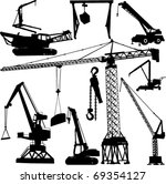 construction crane collection   ... | Shutterstock .eps vector #69354127