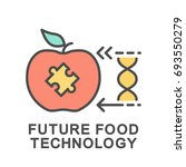 icon future food technology.... | Shutterstock .eps vector #693550279