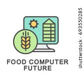 icon food computer future. the... | Shutterstock .eps vector #693550285