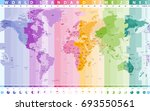 world standard time zones... | Shutterstock .eps vector #693550561