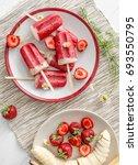 homemade ice cream from bananas ... | Shutterstock . vector #693550795