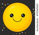 flat line emoji icon. emoticon...   Shutterstock .eps vector #693560065