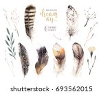 hand drawn watercolor paintings ... | Shutterstock . vector #693562015