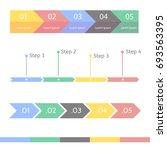 progress bar statistic concept. ... | Shutterstock . vector #693563395