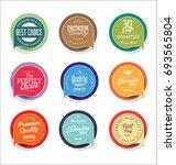 abstract modern vector sticker... | Shutterstock .eps vector #693565804