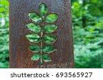 Rusty Metal Flower Sculptures...