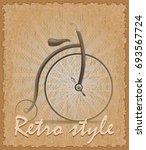 retro style poster old bike... | Shutterstock .eps vector #693567724