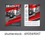 vector set of art flyers.... | Shutterstock .eps vector #693569047