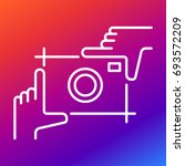 picture of a photo camera in... | Shutterstock .eps vector #693572209