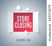 store closing sale vector... | Shutterstock .eps vector #693573079