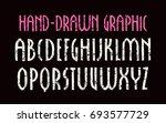 narrow sanserif font in new... | Shutterstock .eps vector #693577729
