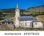 isolated medieval romanesque... | Shutterstock . vector #693578101