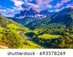 the sun illuminates grandiose... | Shutterstock . vector #693578269
