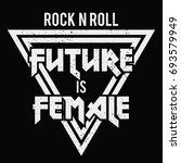 Female Fashion Slogan. Punk...