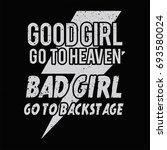 good girl and bad girl female... | Shutterstock .eps vector #693580024