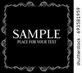 vector frame. calligraphic... | Shutterstock .eps vector #693581959