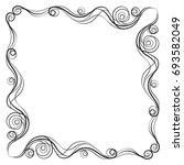 vector frame. calligraphic... | Shutterstock .eps vector #693582049