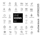 line icons set. shipping pack.... | Shutterstock .eps vector #693582205