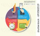 business infographic timeline... | Shutterstock .eps vector #693583519