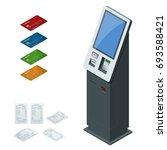 isometric set vector online... | Shutterstock .eps vector #693588421