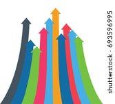 infographic arrow. 3d simple... | Shutterstock . vector #693596995