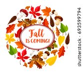 autumn is coming poster for... | Shutterstock .eps vector #693599794