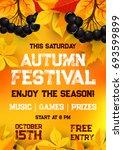 fall festival of autumn harvest ... | Shutterstock .eps vector #693599899