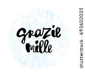 grazie mille thank you very... | Shutterstock .eps vector #693602035
