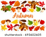 autumn poster template of... | Shutterstock .eps vector #693602605