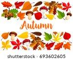autumn poster template of... | Shutterstock .eps vector #693602605