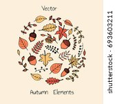colorful vector hand drawn set... | Shutterstock .eps vector #693603211
