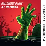 halloween zombie hand | Shutterstock .eps vector #693605674