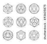 sacred geometry line art | Shutterstock .eps vector #693605875