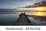 Sunset On Lake Peten Itza In...
