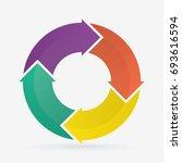 vector circle arrows for... | Shutterstock .eps vector #693616594